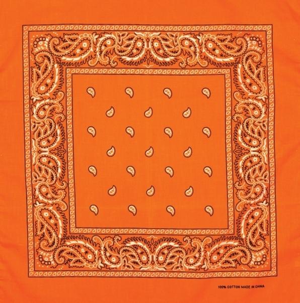 Bandana clipart orange bandana. Artex products made in