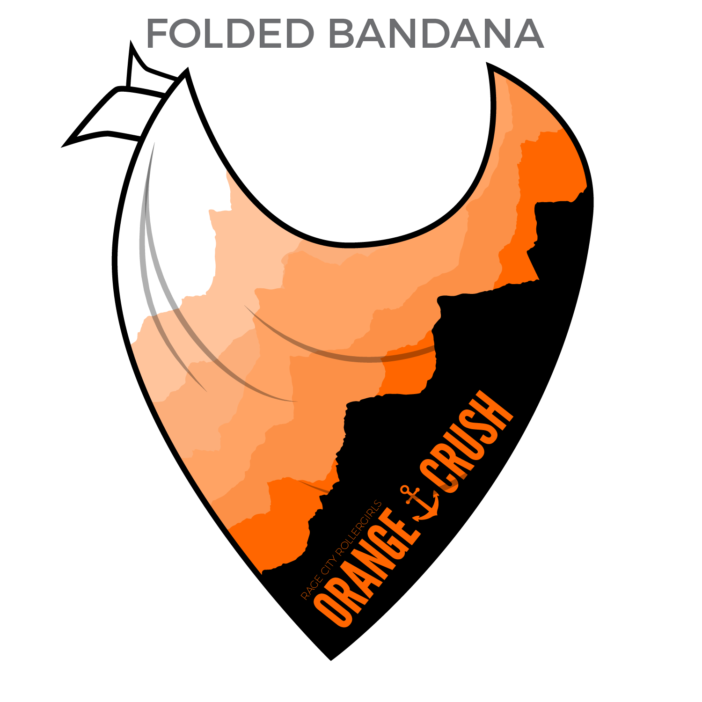 Rage city rollergirls crush. Bandana clipart orange bandana