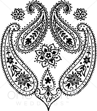 Paisley clipart. Wedding designs