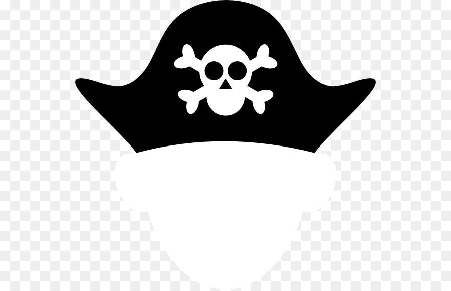 Bandana clipart pirate hat. Piracy tricorne clip art