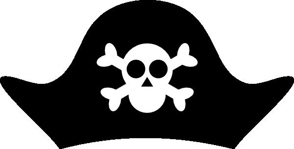 Bandana clipart pirate hat. Template clip art vector