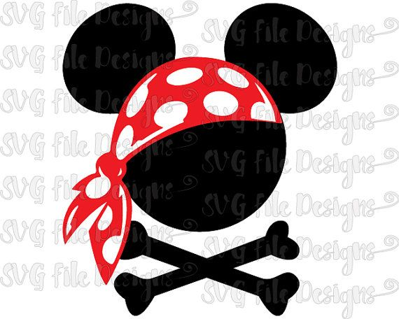 Bandana clipart printable. Pirate mickey mouse crossbones