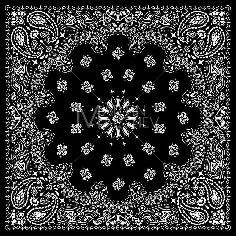 Bandana clipart vector. Black illustration bandanna western