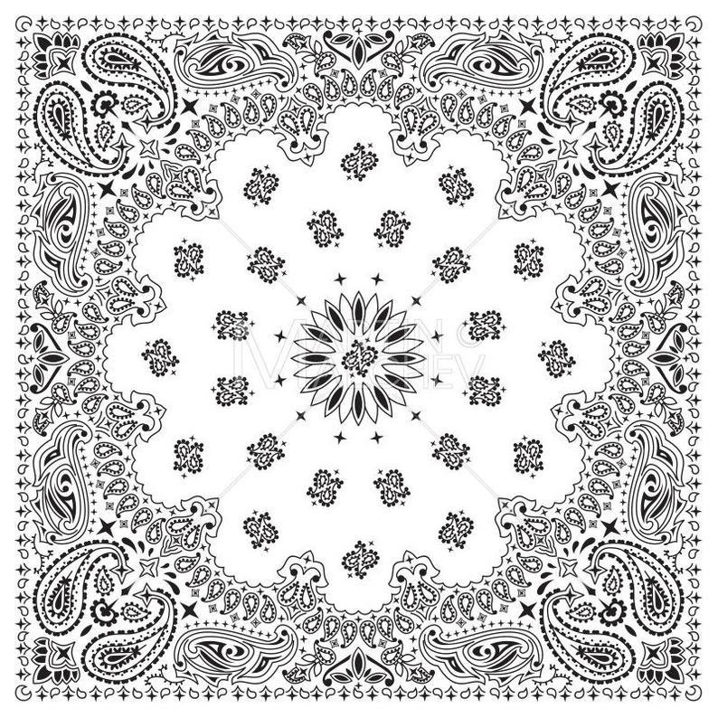White illustration bandanna western. Bandana clipart vector