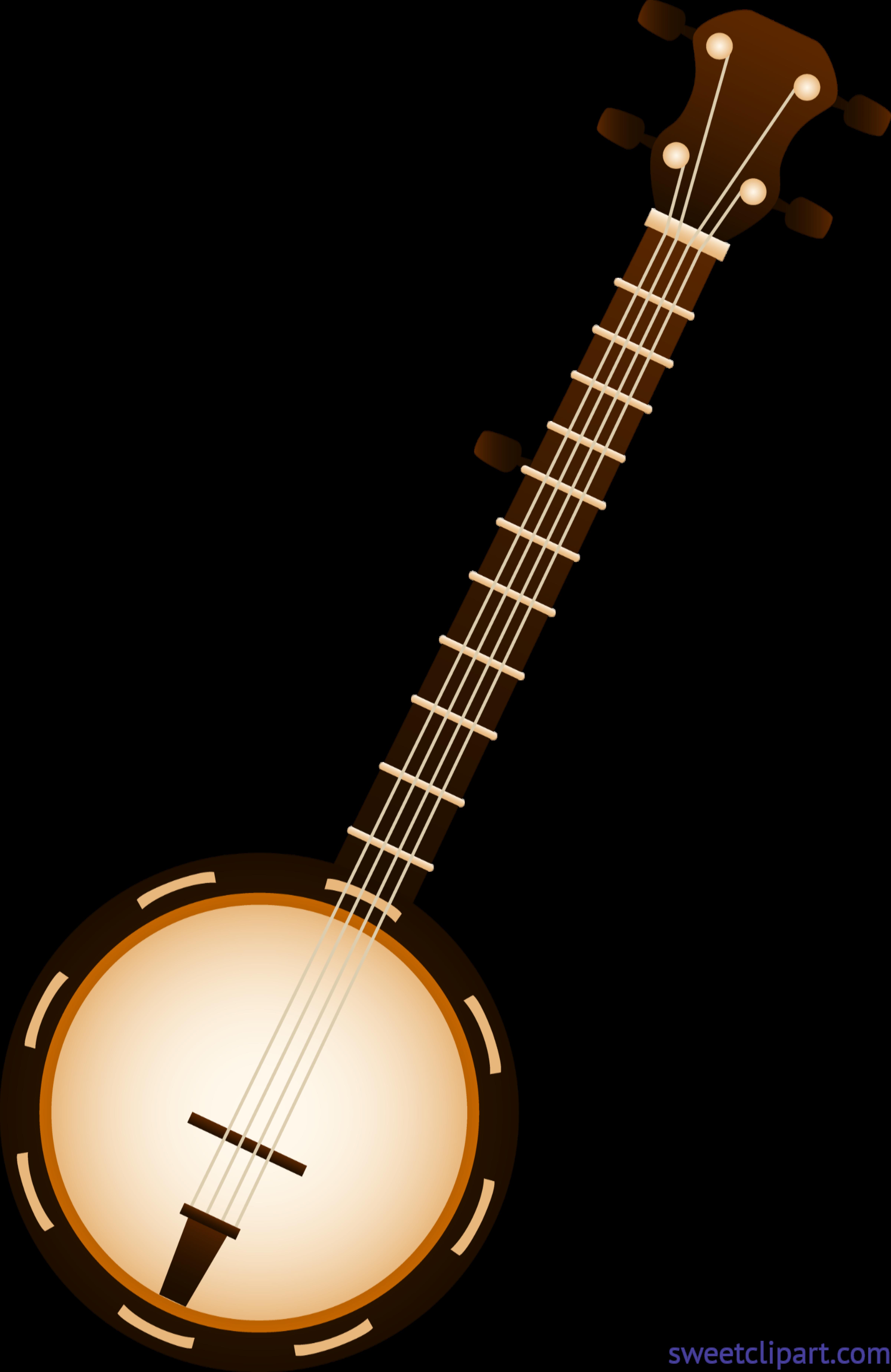 Banjo clipart. Clip art sweet