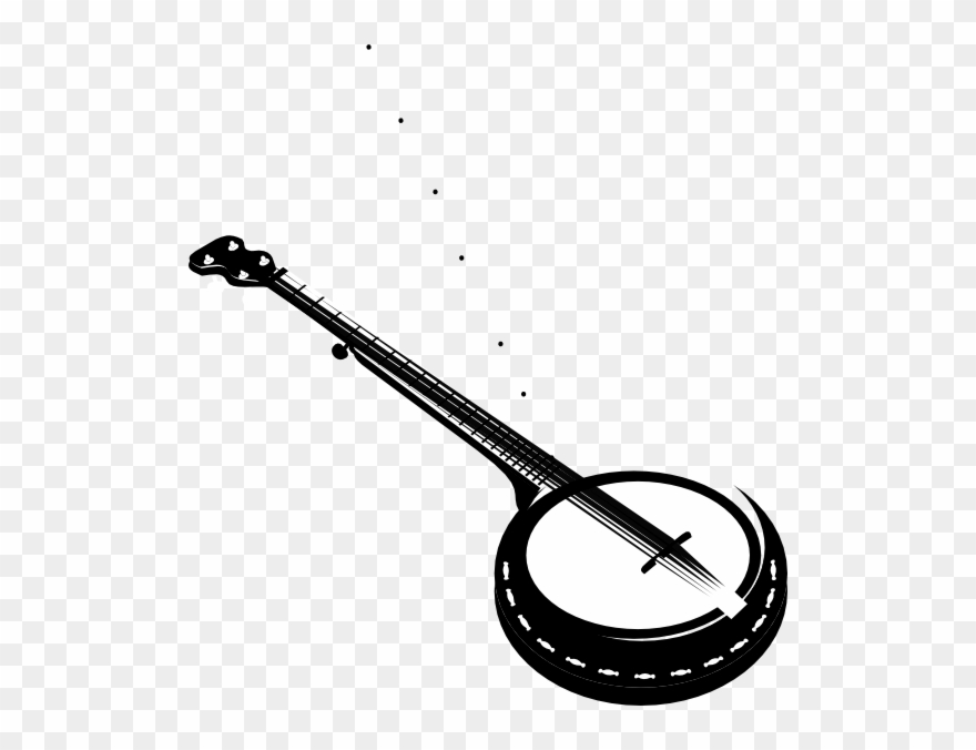 Banjo clipart. Banner library stock crossed