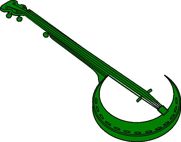 Green clip art at. Banjo clipart