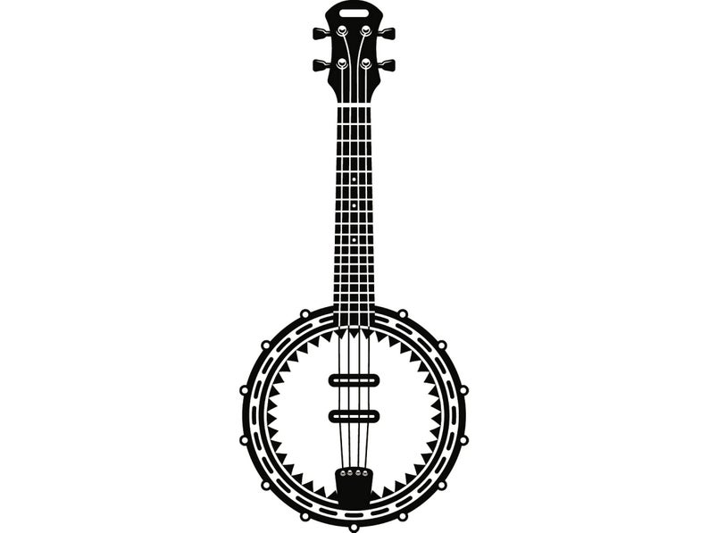 Musical instrument strings rock. Banjo clipart