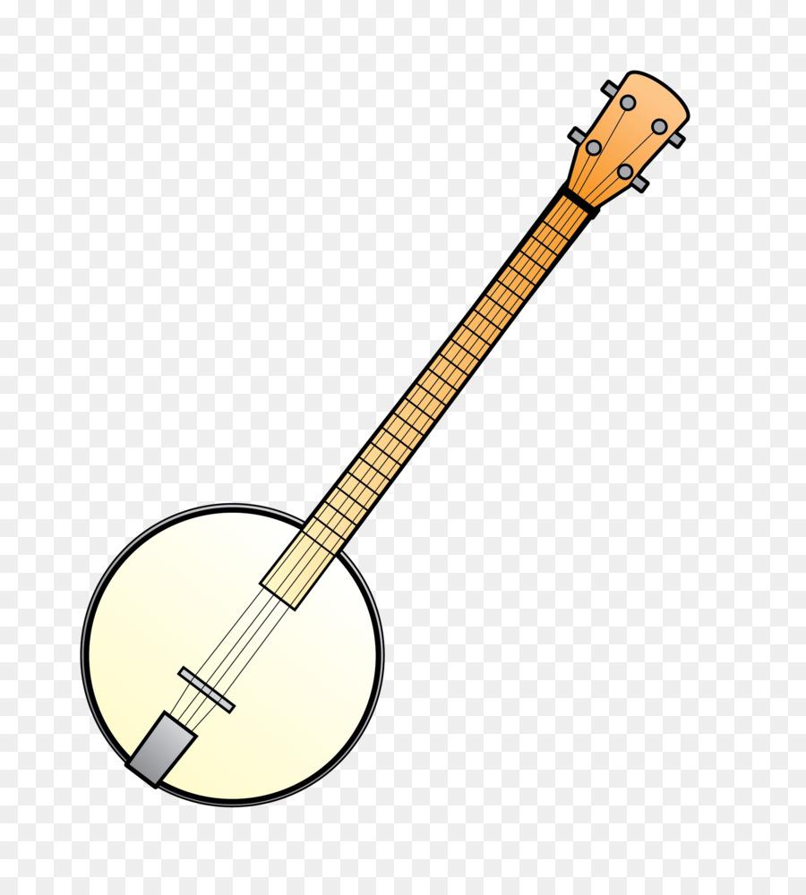 Banjo clipart. Guitar cartoon line font