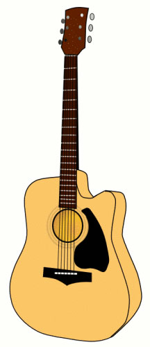Banjo clipart animated. Guitar free music graphics