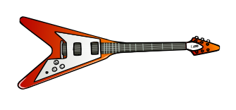 Clipart guitar star. Free music graphics flying