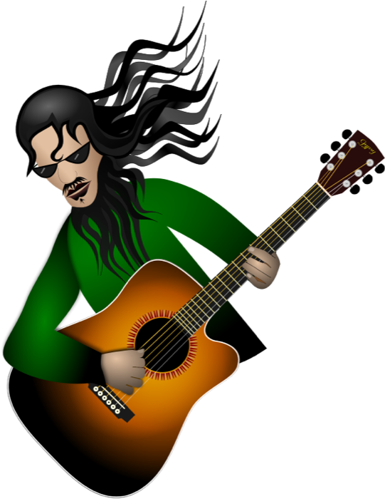 Clipart guitar vector. Free music graphics player