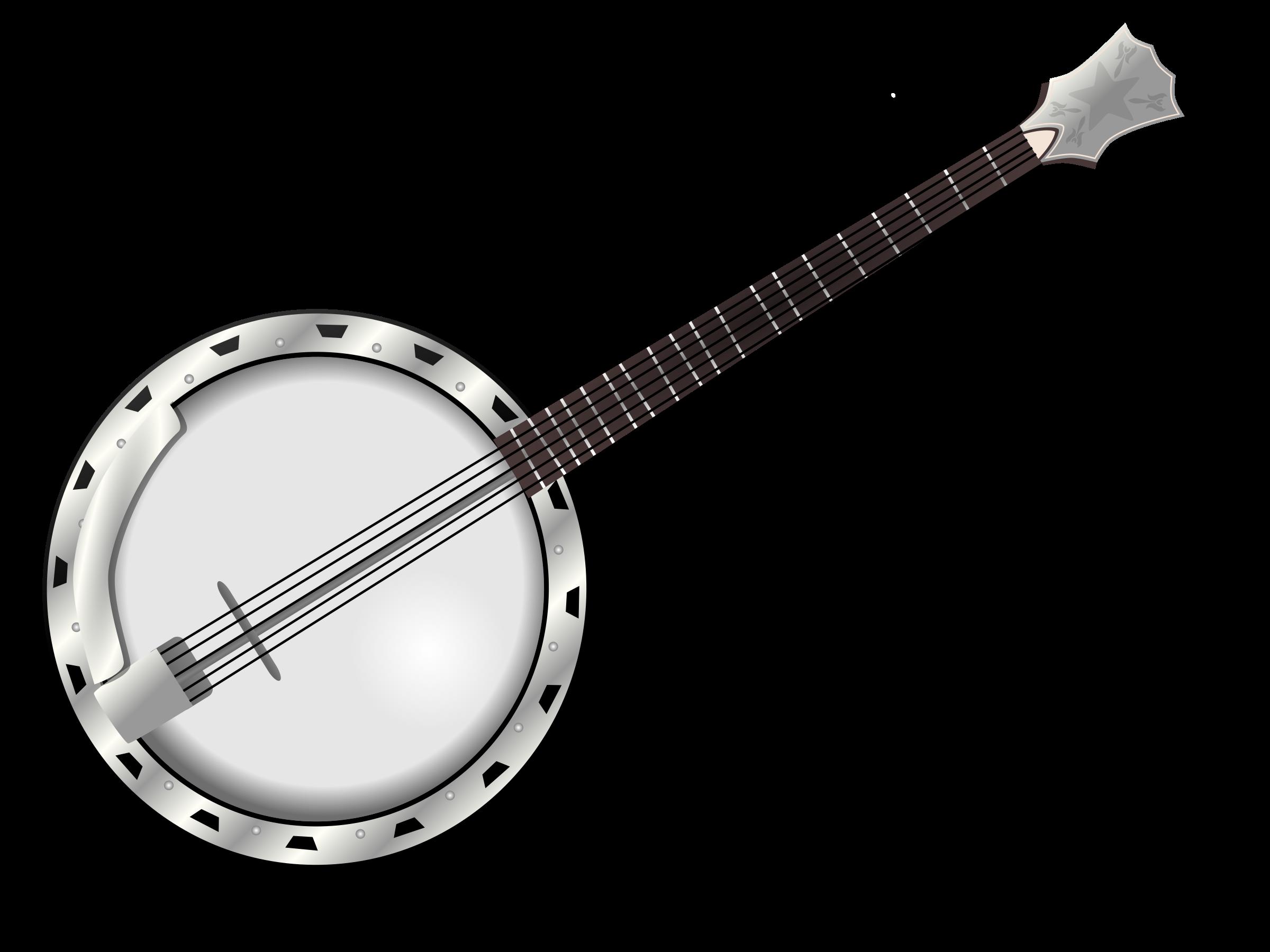 By gnokii cc music. Banjo clipart banjo guitar
