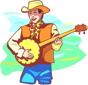 . Banjo clipart banjo player