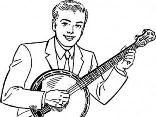 Man playing clip art. Banjo clipart banjo player