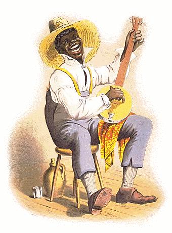 Banjo clipart banjo player. Stereotyping plantation american history