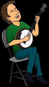 Music appreciation geezer club. Banjo clipart banjo player
