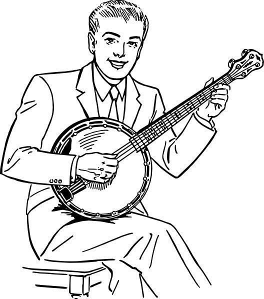 Banjo clipart banjo player. Man playing clip art