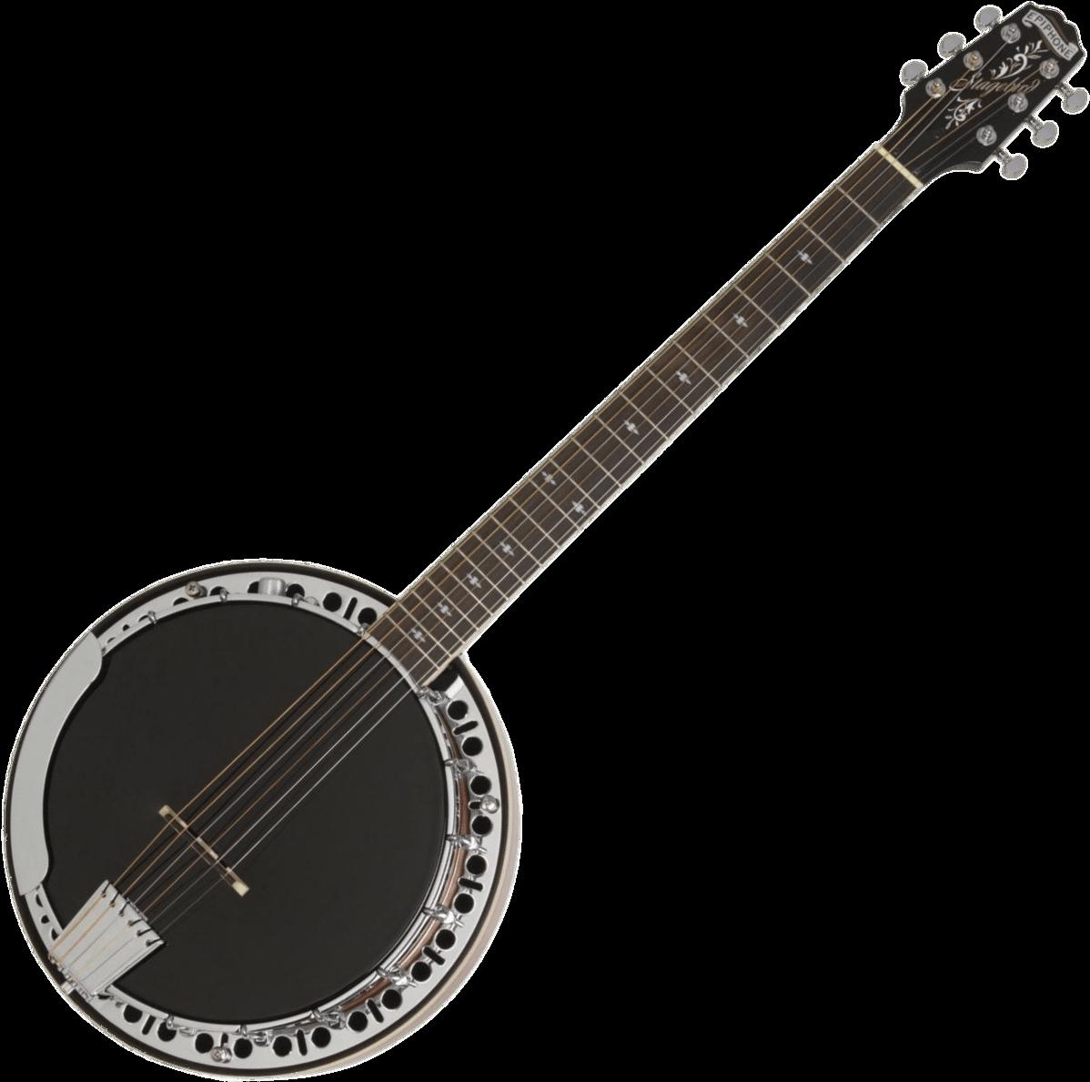 String instrument epiphone pro. Banjo clipart cartoon