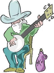 Banjo clipart cartoon. Free folk music cliparts