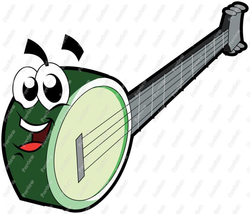 Character clip art royalty. Banjo clipart cartoon