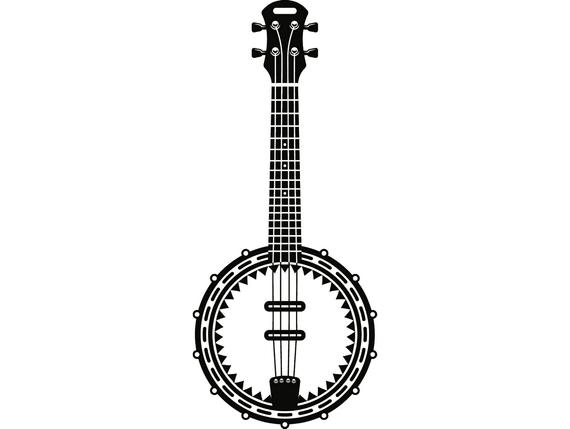 Musical instrument strings rock. Banjo clipart country music