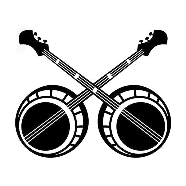 banjo clipart crossed