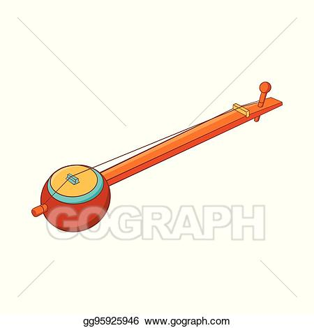 Vector art traditional one. Banjo clipart crossed