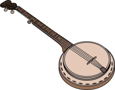 Banjo clipart ektara. Free vector download for
