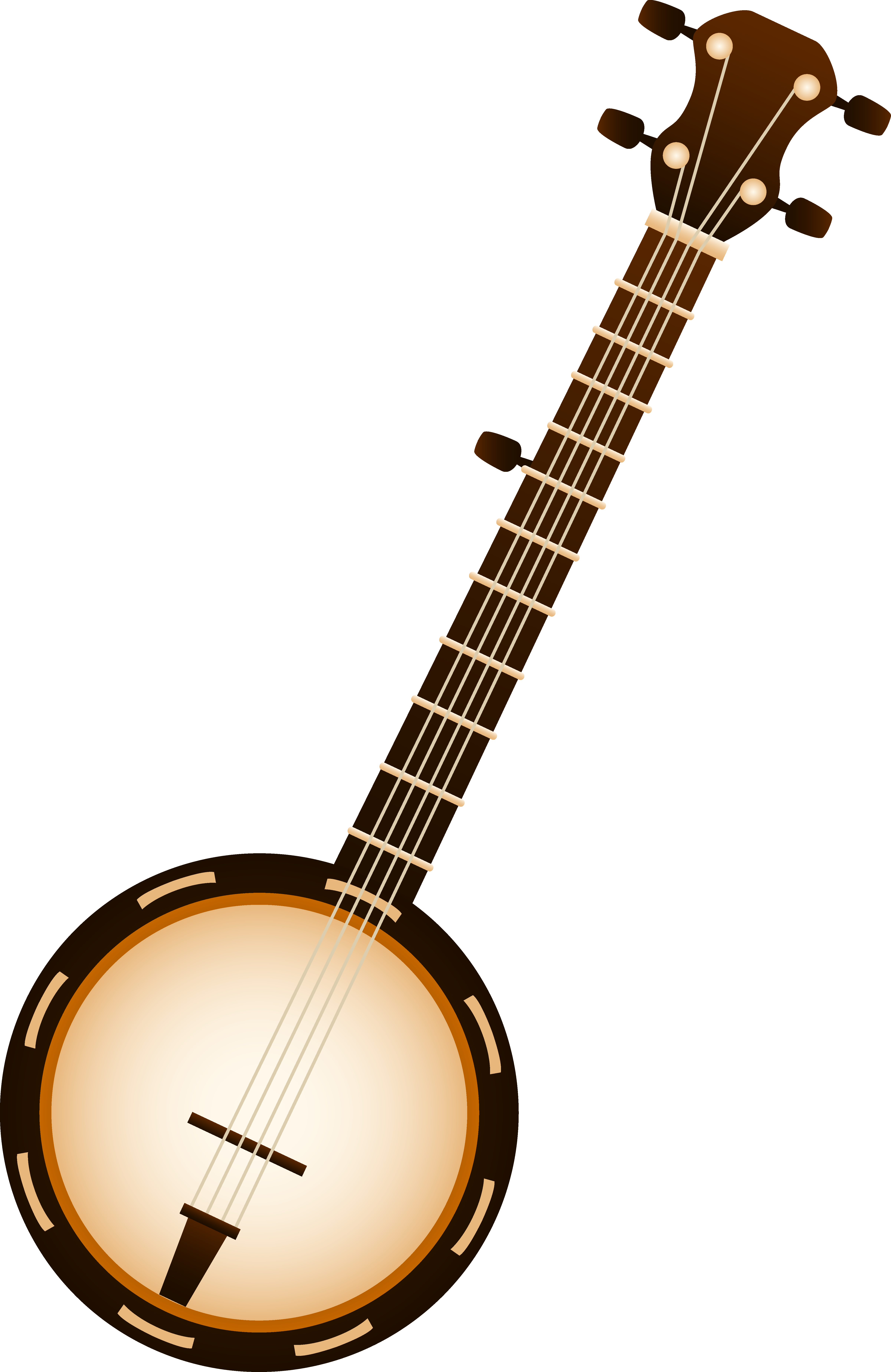 Banjo musical instrument free. Clipart rock instruments