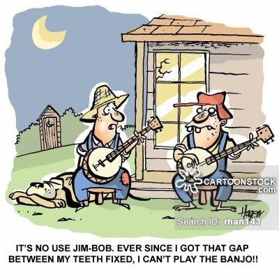 Cartoons and comics it. Banjo clipart hillbilly music