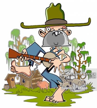 Banjo clipart hillbilly music. Country western cartoons and