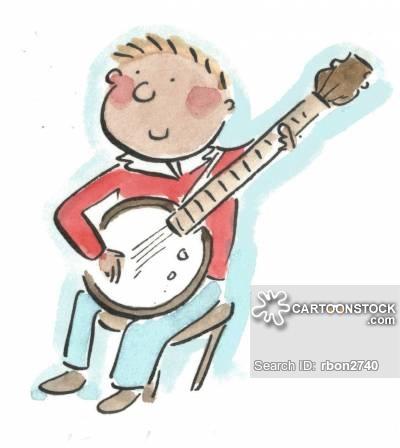 Players cartoons and comics. Banjo clipart hillbilly music