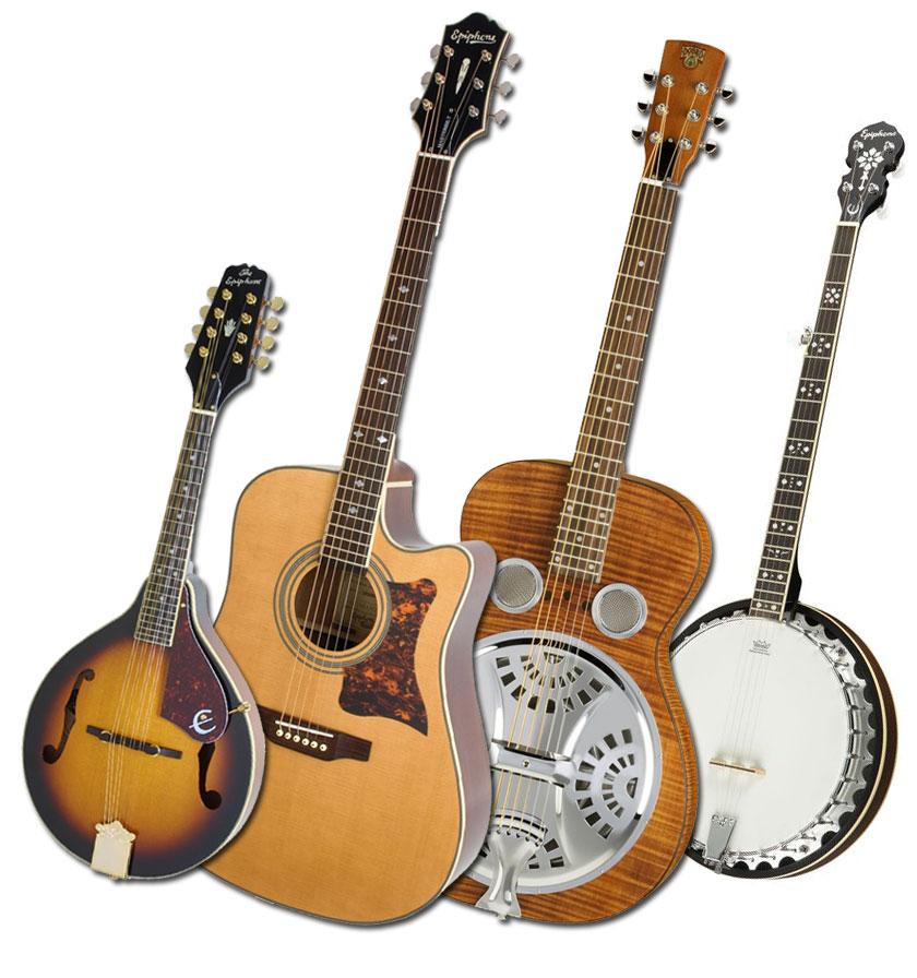 Banjo clipart mandolin. Epiphone bluegrass instrument giveaway