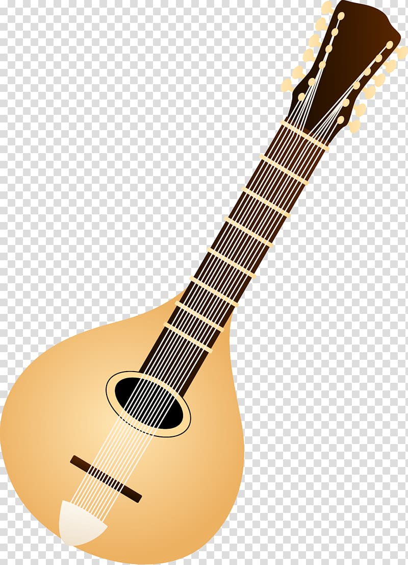 Musical instrument lute colored. Banjo clipart mandolin