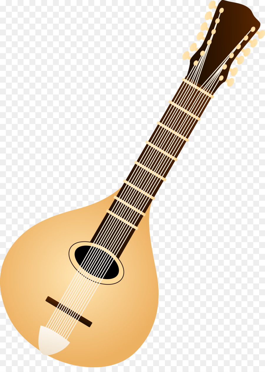 Banjo clipart mandolin. Musical instrument lute clip