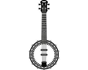 Etsy strings rock music. Banjo clipart musical instrument