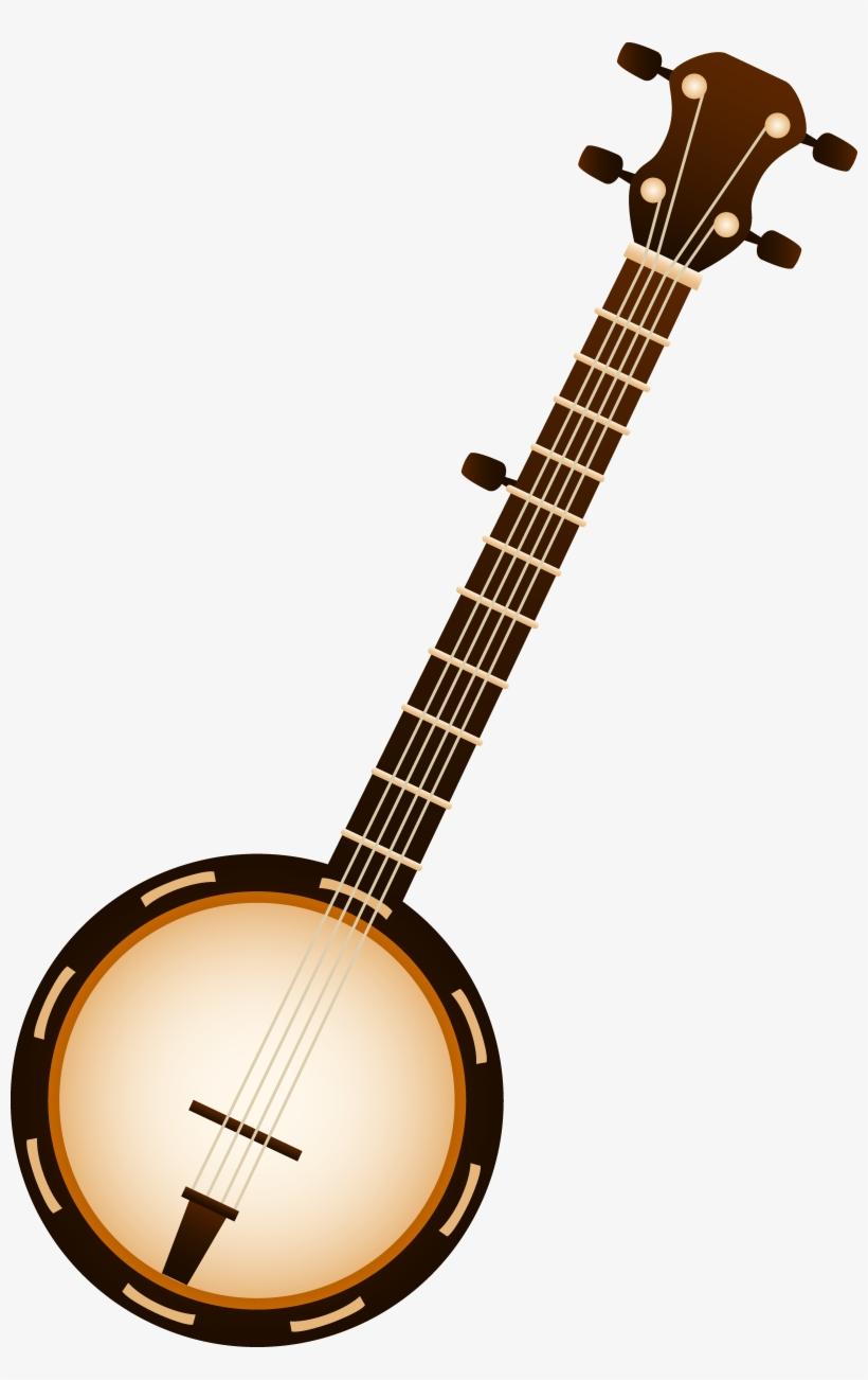 Transparent png . Banjo clipart musical instrument