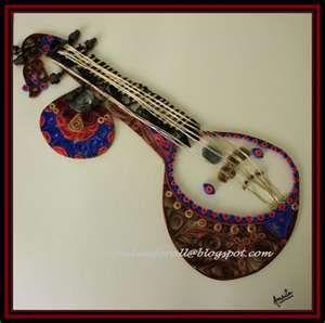 Quilled music pinterest i. Banjo clipart saraswati veena