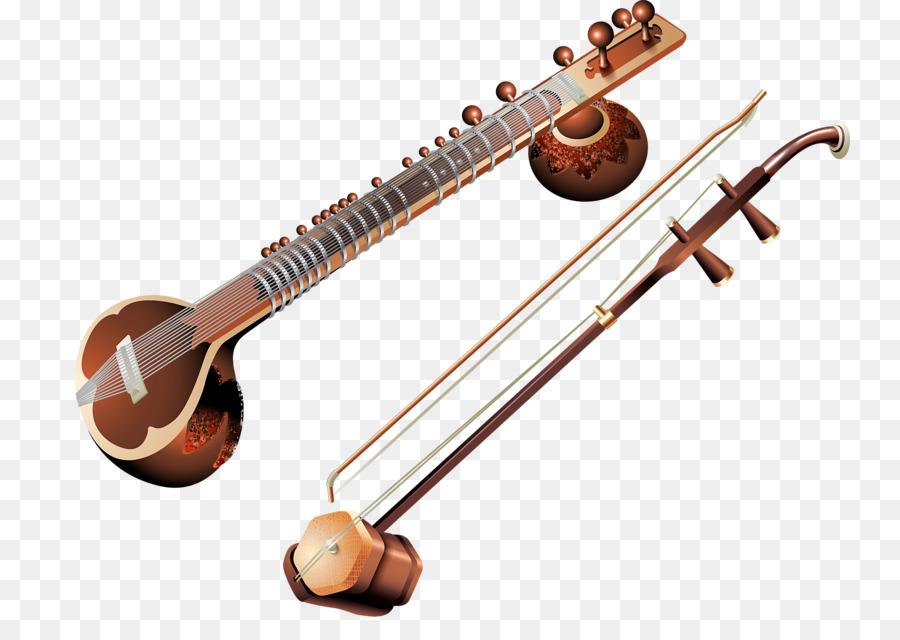 Banjo clipart saraswati veena. String instrument musical erhu