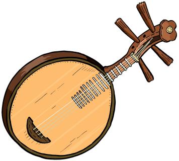 India yueqin . Banjo clipart saraswati veena