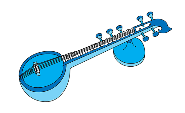 The milapfest . Banjo clipart saraswati veena