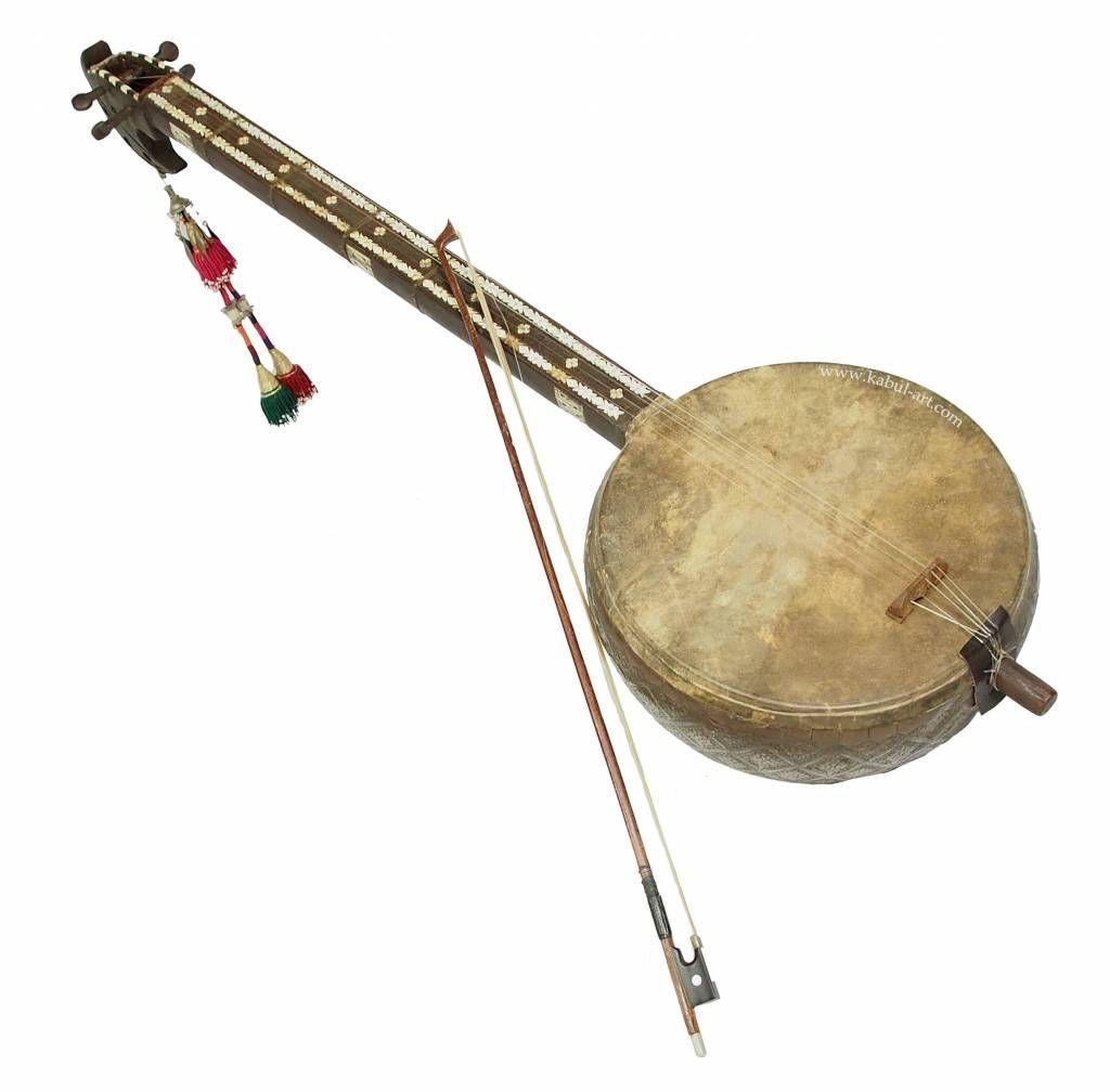 Musikinstrument afghanistan ghichak orientart. Banjo clipart sarod