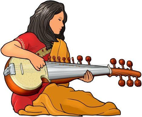 instruments. Banjo clipart sarod