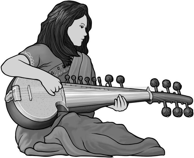 Banjo clipart sarod.  best classical music