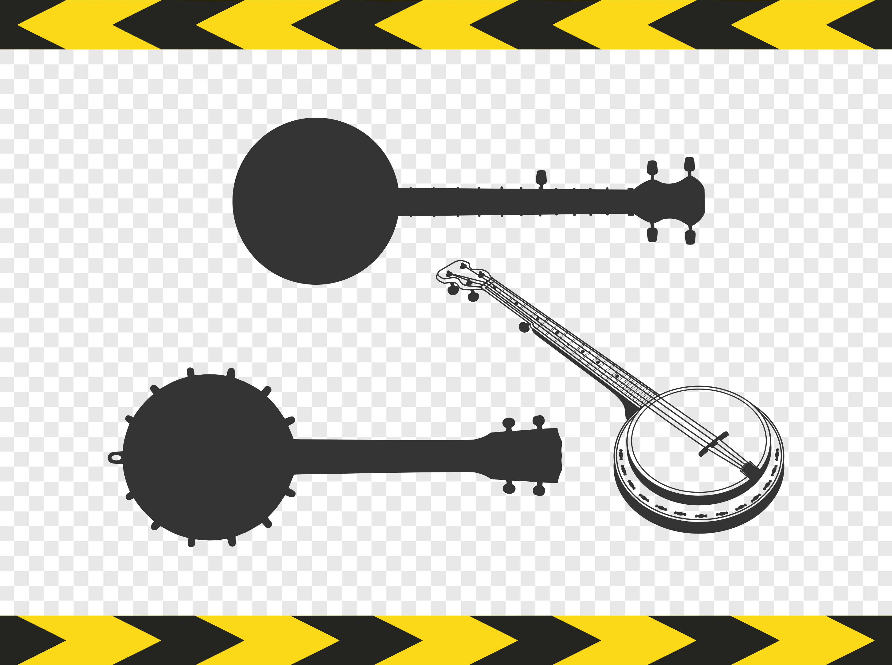 Banjo clipart silhouette. Svg diy car decal