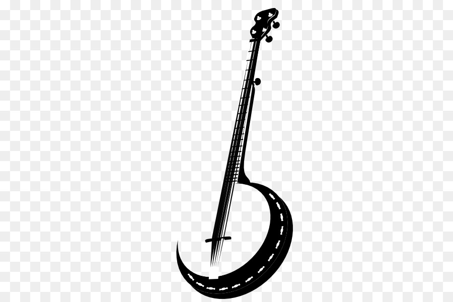Banjo clipart silhouette. Guitar cartoon graphics line
