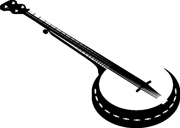 string clip art. Banjo clipart silhouette
