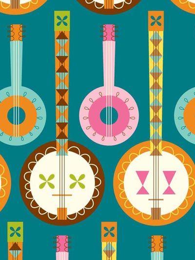 Banjo clipart simple.  best pickin grinnin