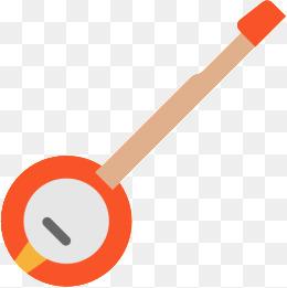 Png vectors psd and. Banjo clipart simple
